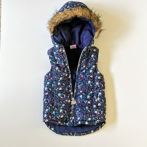 Hello Kitty Puffer Vest with a Hoodie